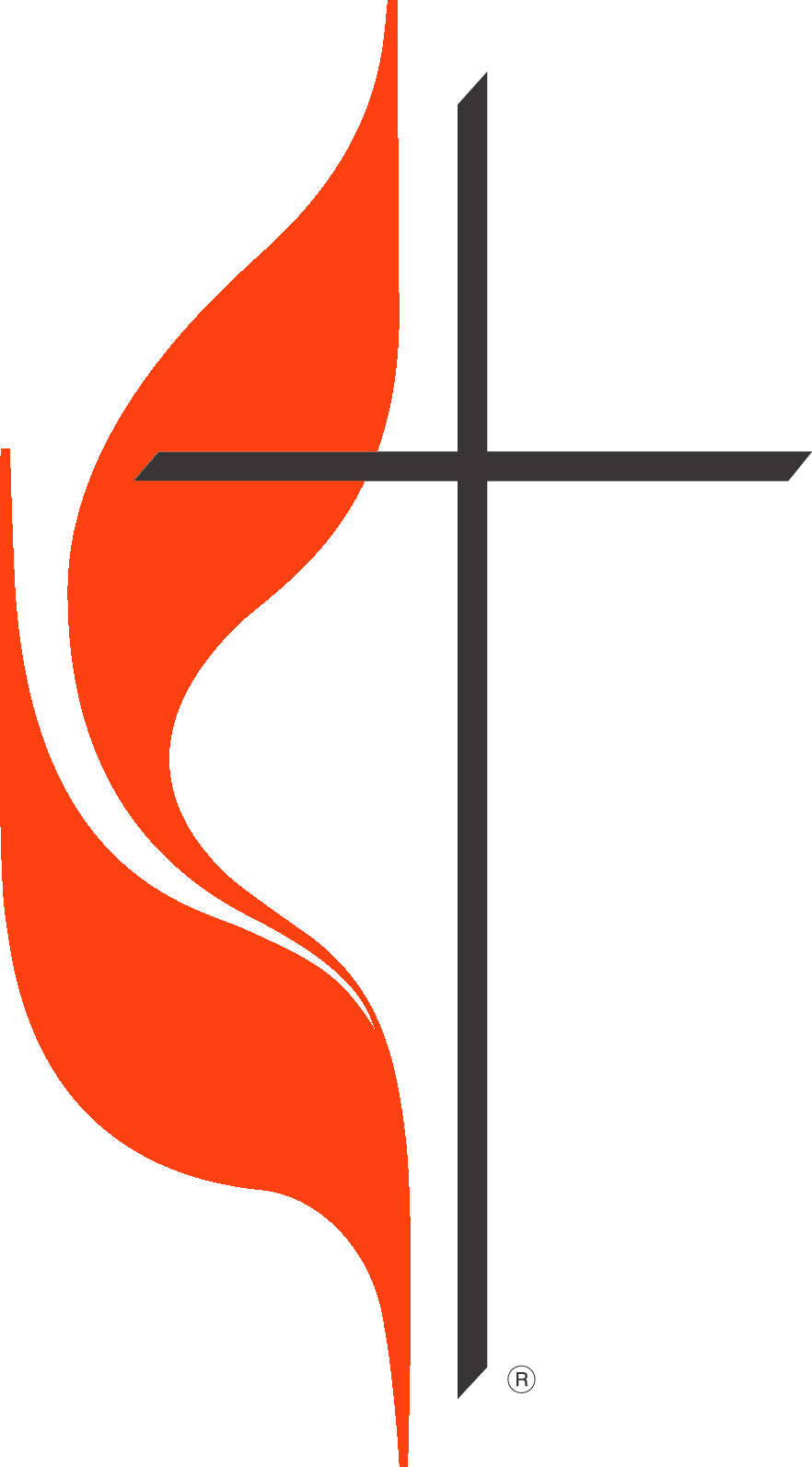 The Cross and Flame is a registered trademark and the use is supervised by the General Council on Finance and Administration of The United Methodist Church. Permission to use the Cross and Flame must be obtained from the General Council on Finance and Administration of The United Methodist Church